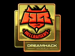 Sticker | HellRaisers (Gold) | DreamHack 2014