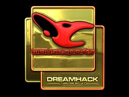 Sticker | mousesports (Gold) | DreamHack 2014