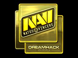 Sticker | Natus Vincere (Gold) | DreamHack 2014