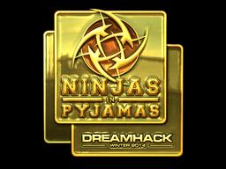 Sticker | Ninjas in Pyjamas (Gold) | DreamHack 2014