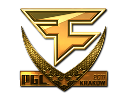 Sticker   FaZe Clan (Gold)   Krakow 2017