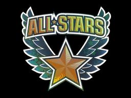 Sticker   All-Stars Orange (Holo)