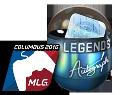 Autograph Capsule | Legends (Foil) | MLG Columbus 2016