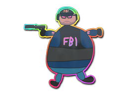 Sticker   Poorly Drawn FBI (Holo)