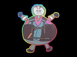 Sticker | Poorly Drawn Bloody Darryl (Holo)