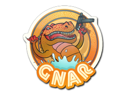 Sticker   Orange Gnar