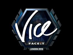 Sticker | vice (Foil) | London 2018