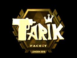 Sticker | tarik (Gold) | London 2018