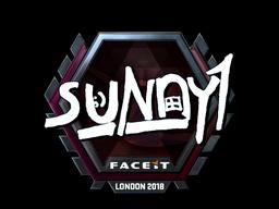 Sticker   suNny (Foil)   London 2018