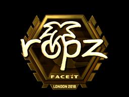 Sticker   ropz (Gold)   London 2018