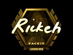 Sticker   Rickeh (Gold)   London 2018