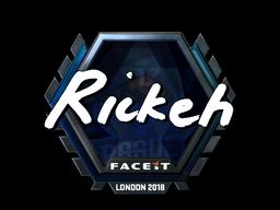 Sticker   Rickeh (Foil)   London 2018