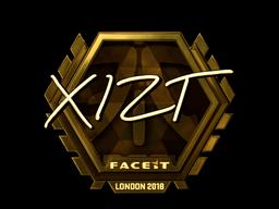Sticker | Xizt (Gold) | London 2018