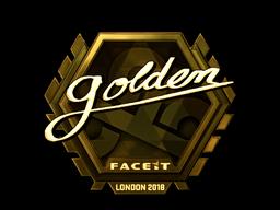 Sticker   Golden (Gold)   London 2018