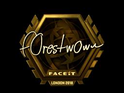 Sticker | f0rest (Gold) | London 2018