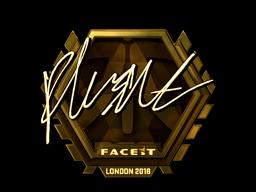 Sticker | flusha (Gold) | London 2018