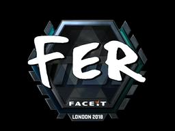 Sticker | fer (Foil) | London 2018