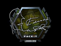 Sticker   Edward (Foil)   London 2018