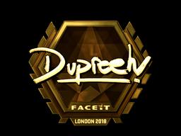 Sticker   dupreeh (Gold)   London 2018