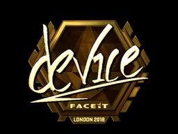 Sticker   device (Gold)   London 2018