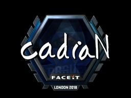 Sticker   cadiaN (Foil)   London 2018