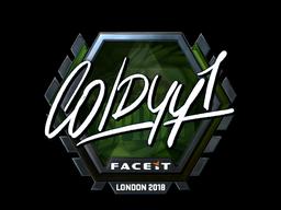 Sticker | COLDYY1 (Foil) | London 2018