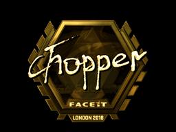 Sticker   chopper (Gold)   London 2018
