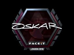 Sticker   oskar (Foil)   London 2018