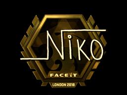 Sticker   niko (Gold)    London 2018