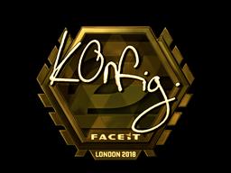 Sticker   k0nfig (Gold)   London 2018