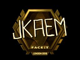Sticker   jkaem (Gold)   London 2018