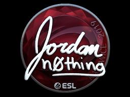 Sticker   n0thing (Foil)   Katowice 2019