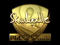 Sticker | Skadoodle (Gold) | Krakow 2017