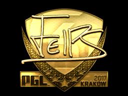 Sticker   felps (Gold)   Krakow 2017