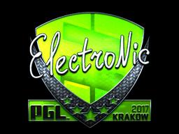 Sticker | electronic (Foil) | Krakow 2017