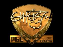 Sticker | chrisJ (Gold) | Krakow 2017