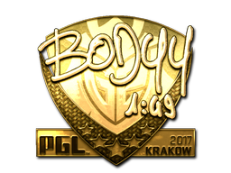 Sticker   bodyy (Gold)   Krakow 2017