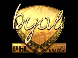 Sticker   byali (Gold)   Krakow 2017