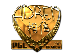 Sticker   AdreN (Gold)   Krakow 2017