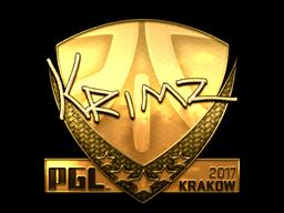Sticker   KRIMZ (Gold)   Krakow 2017