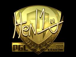 Sticker | HEN1 (Gold) | Krakow 2017