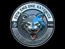 Sticker   ESL Wolf (Foil)   Katowice 2014