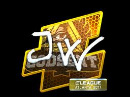 Sticker   JW (Foil)   Atlanta 2017