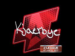 Sticker   Kjaerbye (Foil)   Atlanta 2017