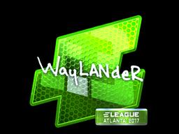 Sticker | wayLander (Foil) | Atlanta 2017