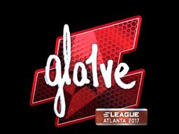Sticker | gla1ve (Foil) | Atlanta 2017