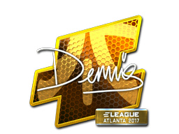 Sticker   dennis (Foil)   Atlanta 2017