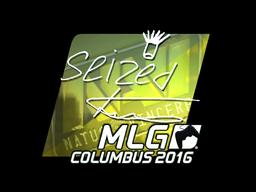 Sticker | seized (Foil) | MLG Columbus 2016