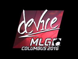 Sticker   device (Foil)   MLG Columbus 2016