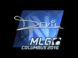 Sticker   DEVIL (Foil)   MLG Columbus 2016
